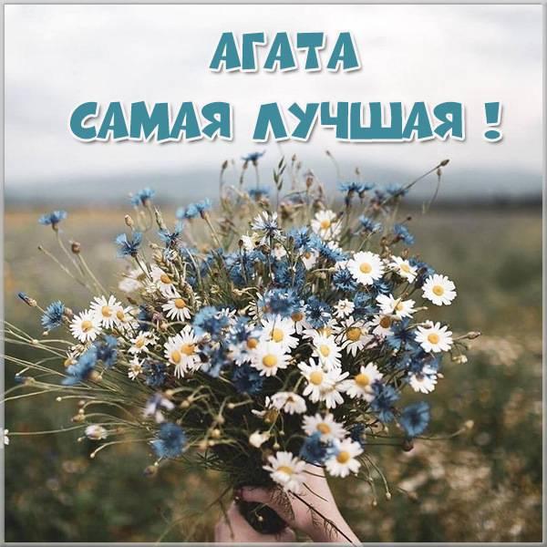 Картинка с надписью Агата лучшая - скачать бесплатно на otkrytkivsem.ru