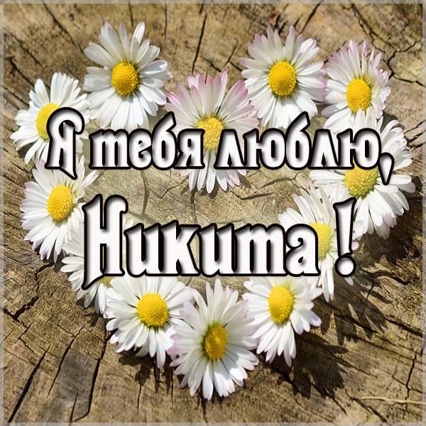 Картинка с надписью Никита я тебя люблю - скачать бесплатно на otkrytkivsem.ru