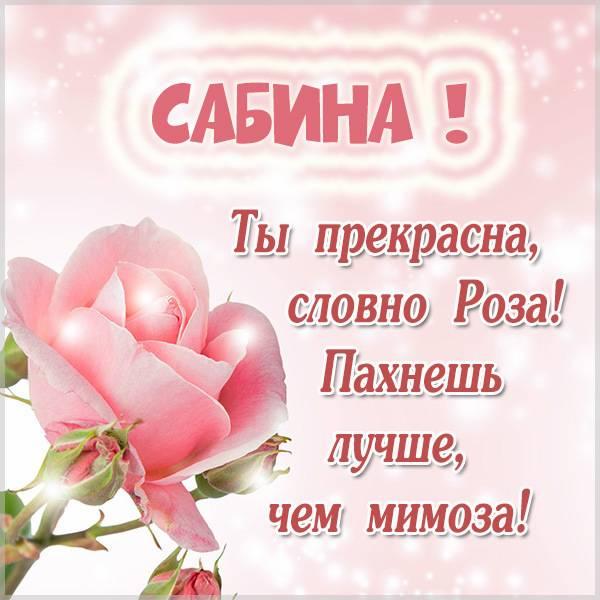 Картинка с надписью Сабина - скачать бесплатно на otkrytkivsem.ru