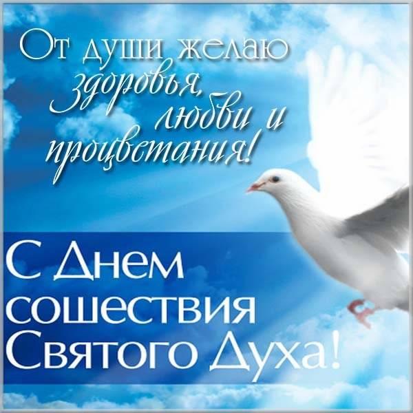 Картинка с поздравлением на Духов день - скачать бесплатно на otkrytkivsem.ru