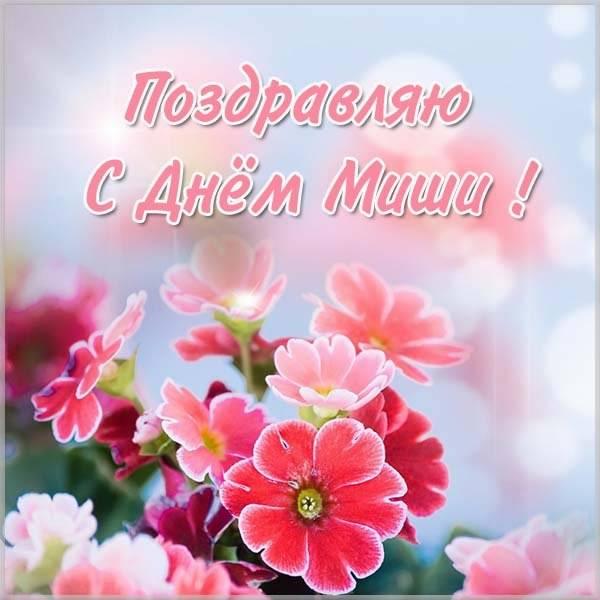 Картинка с поздравлением с днем Миши - скачать бесплатно на otkrytkivsem.ru