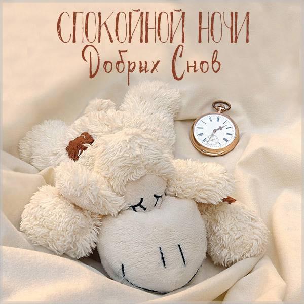 Картинка с пожеланием спокойной ночи добрых снов - скачать бесплатно на otkrytkivsem.ru