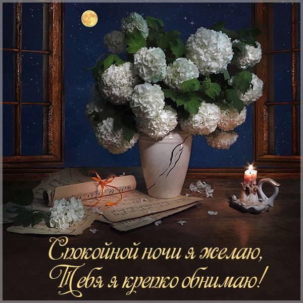 Картинка с пожеланием спокойной ночи любимой девушке - скачать бесплатно на otkrytkivsem.ru