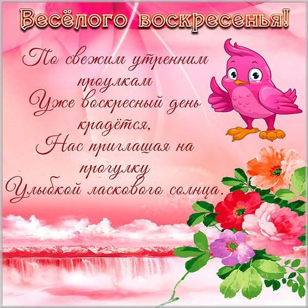 Картинка с пожеланием веселого воскресного дня - скачать бесплатно на otkrytkivsem.ru