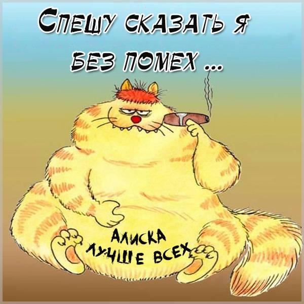 Картинка с приколом про Алису - скачать бесплатно на otkrytkivsem.ru