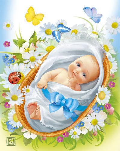Картинка с рождением мальчика - скачать бесплатно на otkrytkivsem.ru