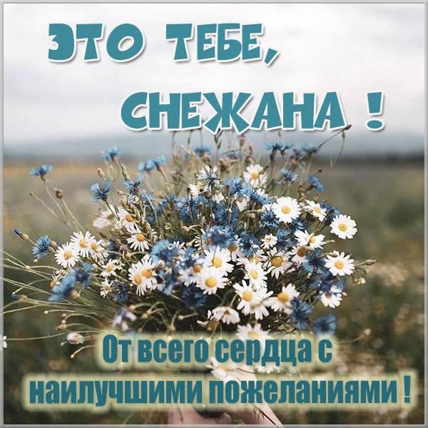 Картинка с цветами для Снежаны - скачать бесплатно на otkrytkivsem.ru