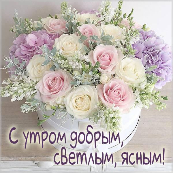 Картинка с утром добрым светлым ясным - скачать бесплатно на otkrytkivsem.ru