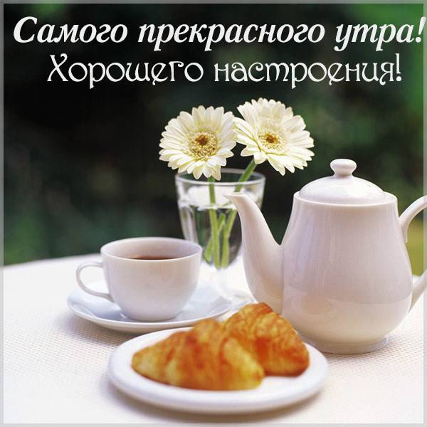Картинка самого прекрасного утра и хорошего настроения - скачать бесплатно на otkrytkivsem.ru