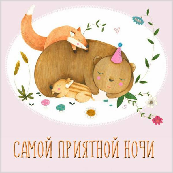 Картинка самой приятной ночи - скачать бесплатно на otkrytkivsem.ru