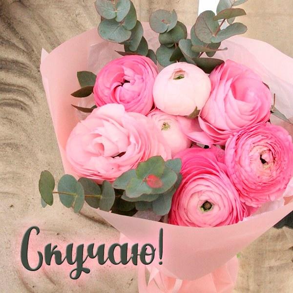 Картинка скучаю цветы - скачать бесплатно на otkrytkivsem.ru