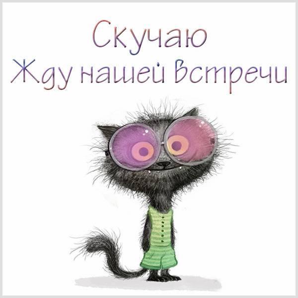 Картинка скучаю жду нашей встречи - скачать бесплатно на otkrytkivsem.ru