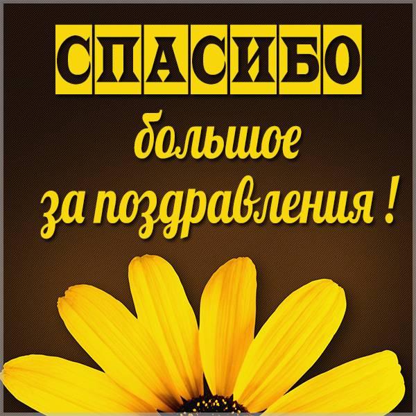 Картинка со словами спасибо большое за поздравления - скачать бесплатно на otkrytkivsem.ru