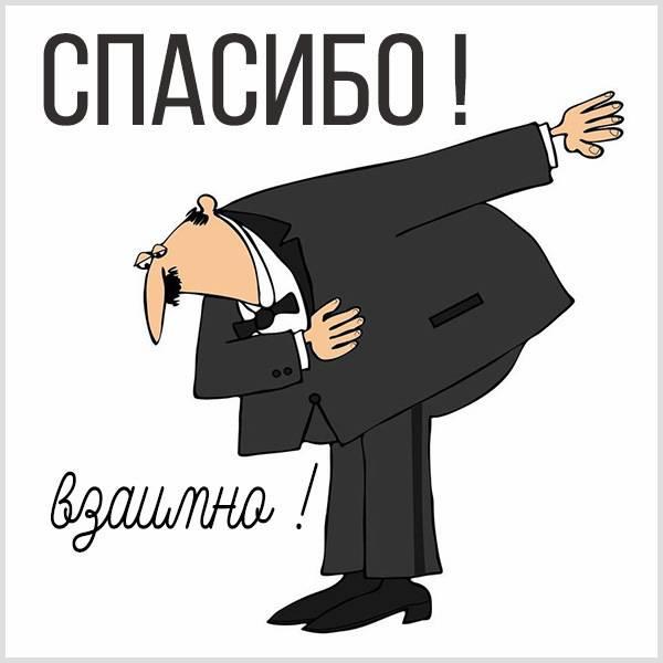Картинка со словами спасибо взаимно - скачать бесплатно на otkrytkivsem.ru