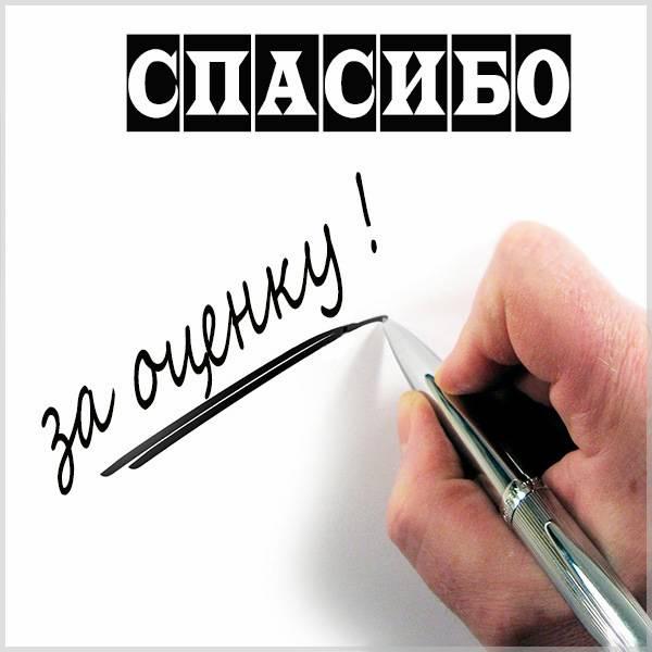 Картинка со словами спасибо за оценку - скачать бесплатно на otkrytkivsem.ru