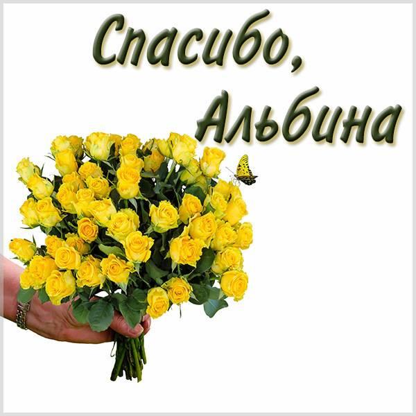 Картинка спасибо Альбина - скачать бесплатно на otkrytkivsem.ru