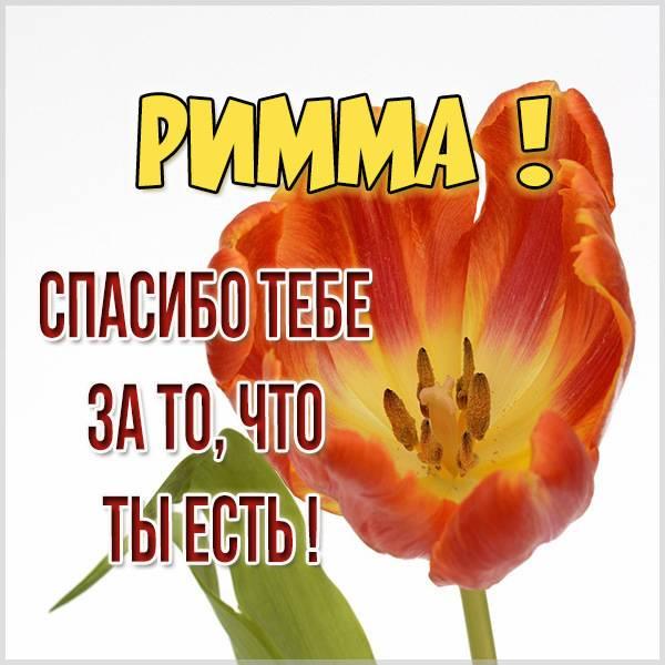 Картинка спасибо что ты есть Римма - скачать бесплатно на otkrytkivsem.ru