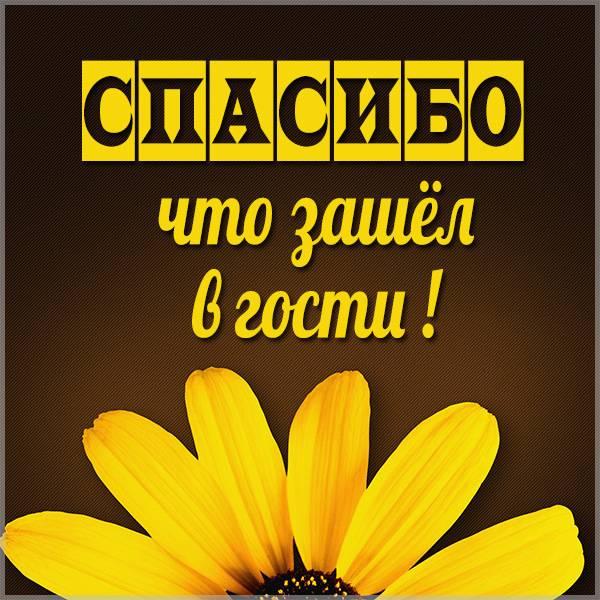 Картинка спасибо что зашел в гости - скачать бесплатно на otkrytkivsem.ru