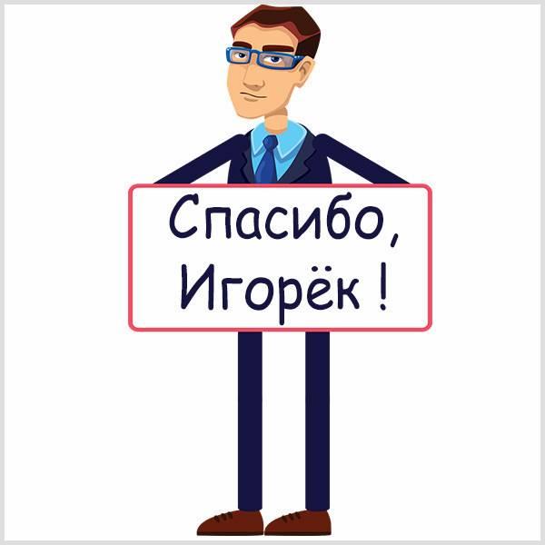 Картинка спасибо Игорек - скачать бесплатно на otkrytkivsem.ru