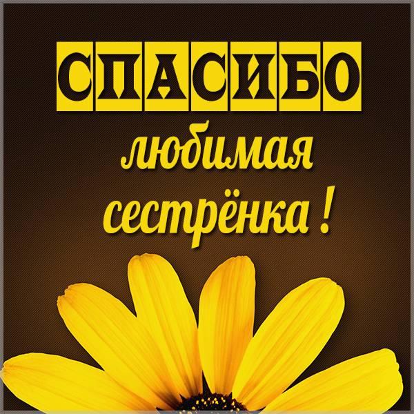 Картинка спасибо любимая сестренка - скачать бесплатно на otkrytkivsem.ru