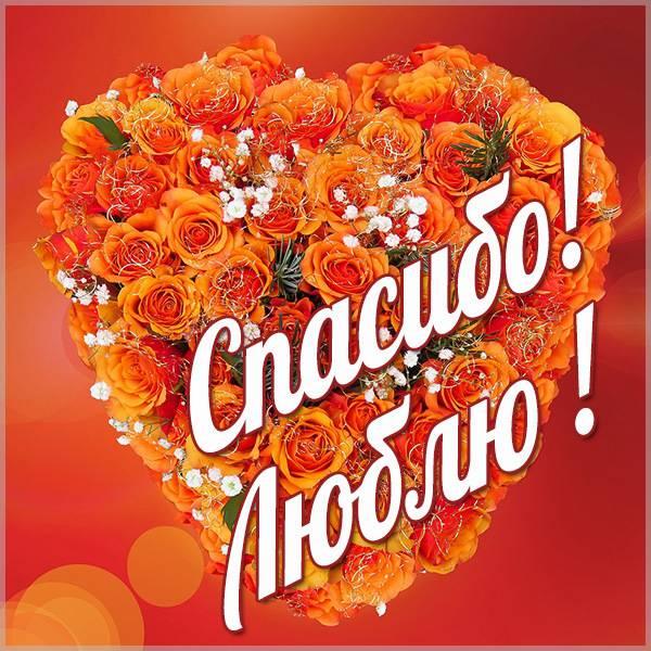 Картинка спасибо люблю - скачать бесплатно на otkrytkivsem.ru