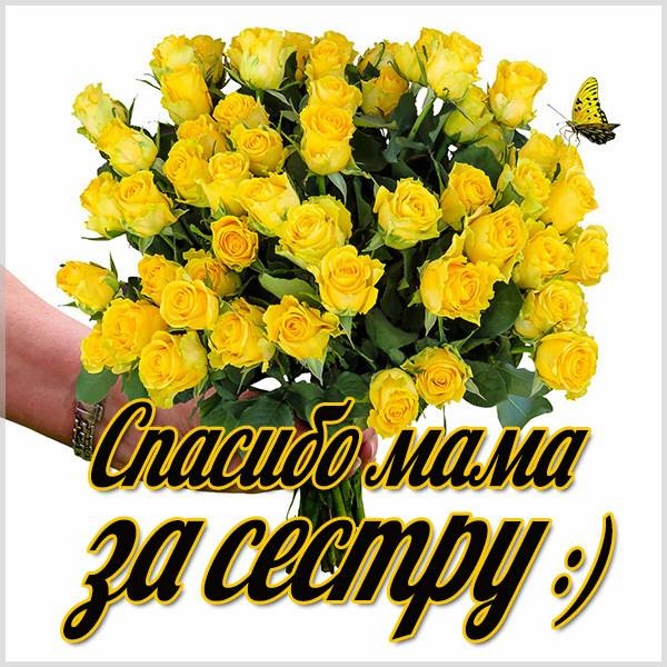 Картинка спасибо мама за сестру - скачать бесплатно на otkrytkivsem.ru
