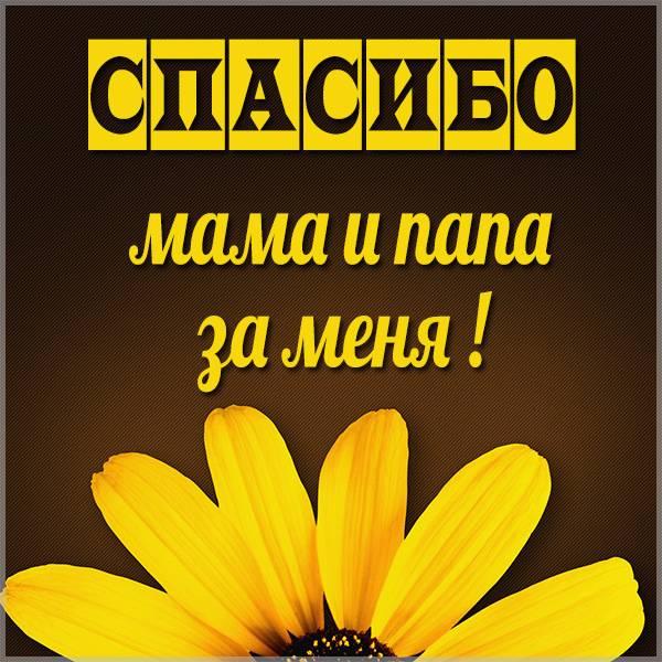 Картинка спасибо маме и папе за меня - скачать бесплатно на otkrytkivsem.ru