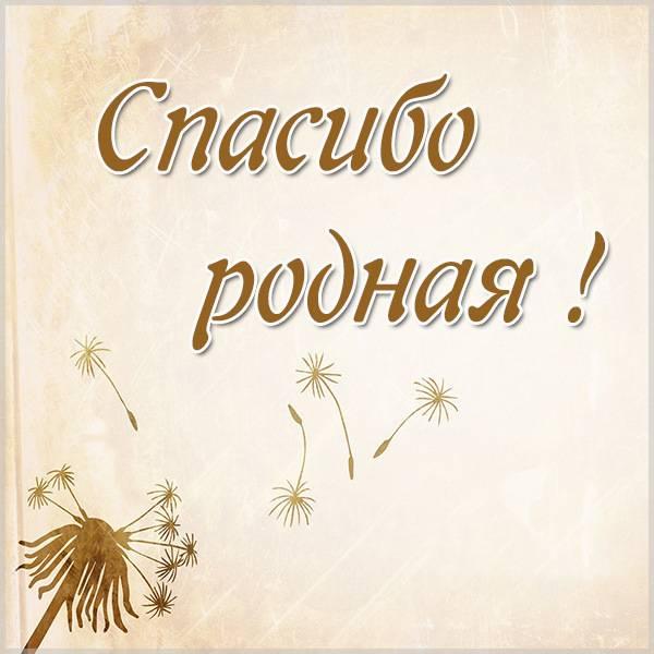 Картинка спасибо родная - скачать бесплатно на otkrytkivsem.ru