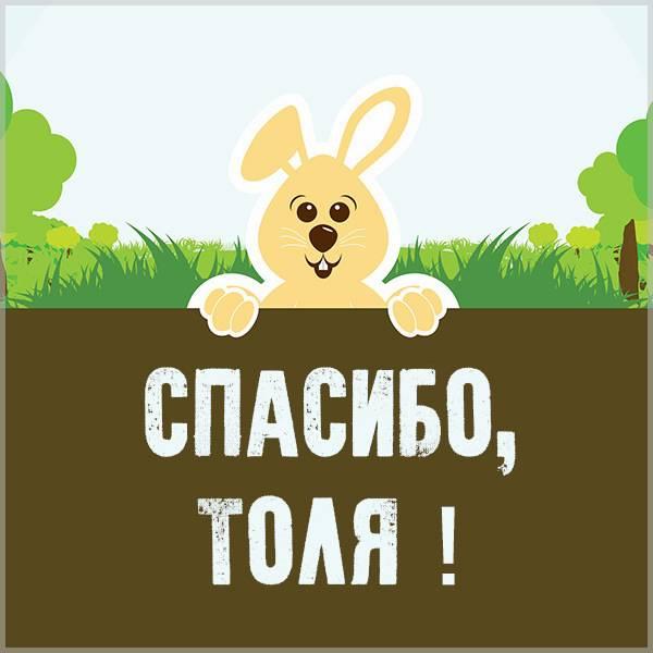 Картинка спасибо Толя - скачать бесплатно на otkrytkivsem.ru