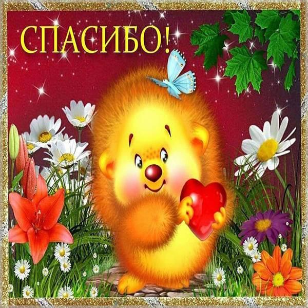 Картинка спасибо трогательно - скачать бесплатно на otkrytkivsem.ru