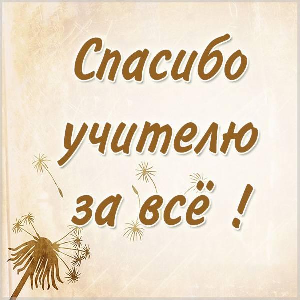 Картинка спасибо учителю за все - скачать бесплатно на otkrytkivsem.ru