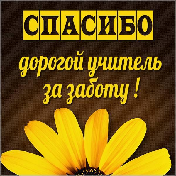 Картинка спасибо учителю за заботу - скачать бесплатно на otkrytkivsem.ru