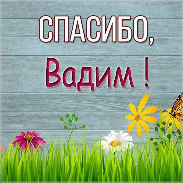 Картинка спасибо Вадим - скачать бесплатно на otkrytkivsem.ru