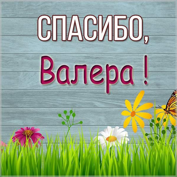 Картинка спасибо Валера - скачать бесплатно на otkrytkivsem.ru