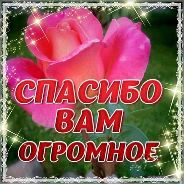Картинка спасибо вам огромное - скачать бесплатно на otkrytkivsem.ru