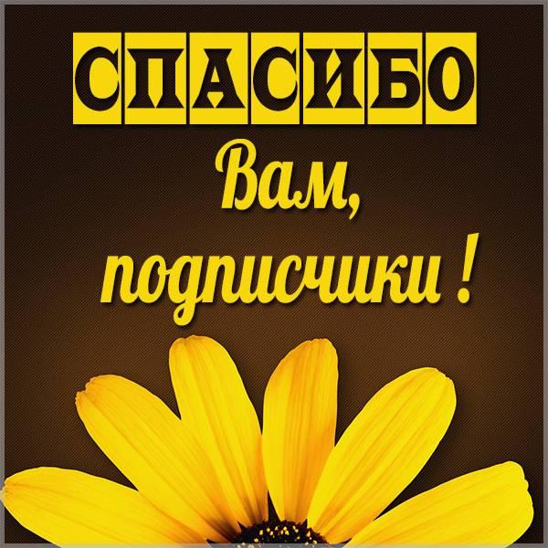 Картинка спасибо вам подписчики - скачать бесплатно на otkrytkivsem.ru