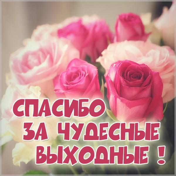 Картинка спасибо за чудесные выходные - скачать бесплатно на otkrytkivsem.ru