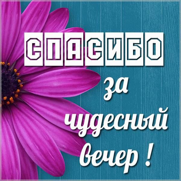 Картинка спасибо за чудесный вечер - скачать бесплатно на otkrytkivsem.ru