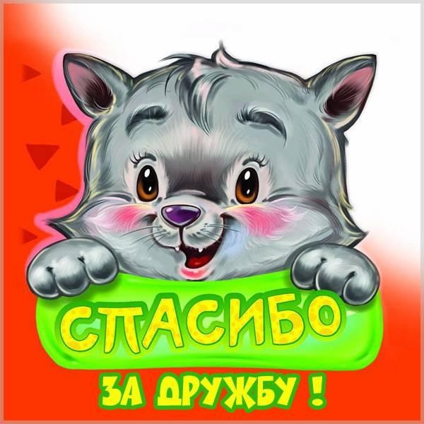 Картинка спасибо за дружбу с надписью - скачать бесплатно на otkrytkivsem.ru