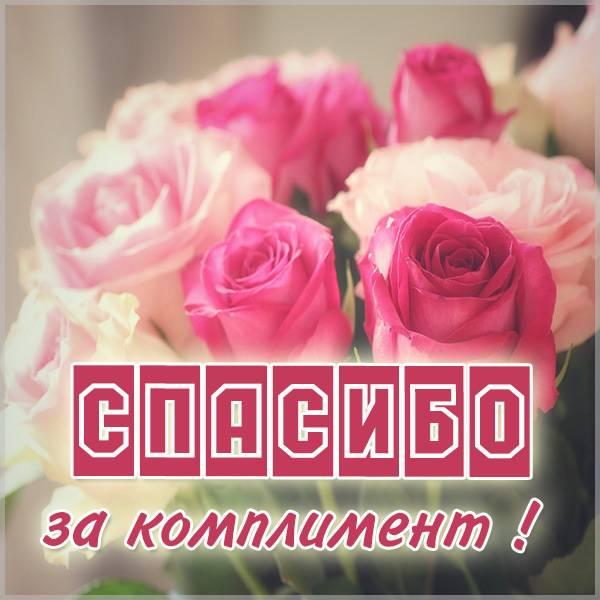 Картинка спасибо за комплимент женщине - скачать бесплатно на otkrytkivsem.ru