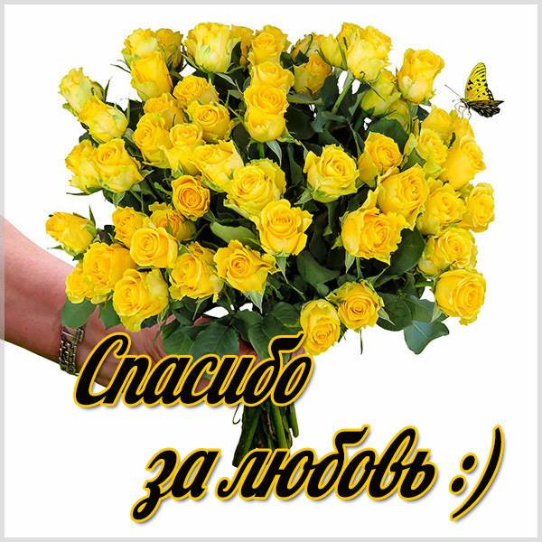 Картинка спасибо за любовь с надписью - скачать бесплатно на otkrytkivsem.ru