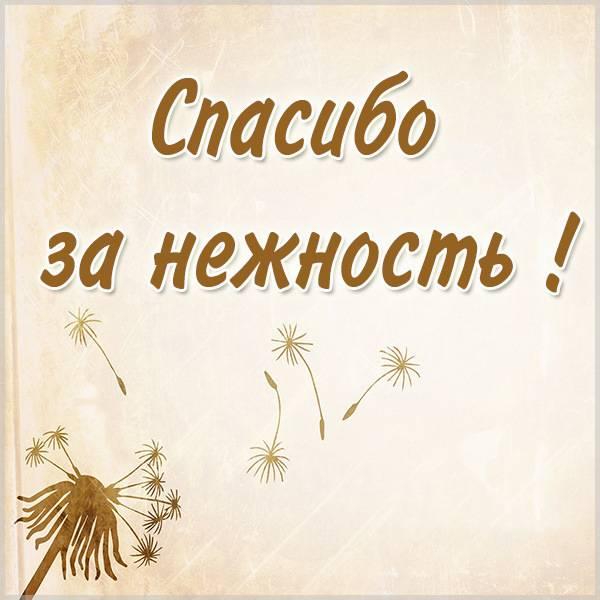 Картинка спасибо за нежность - скачать бесплатно на otkrytkivsem.ru