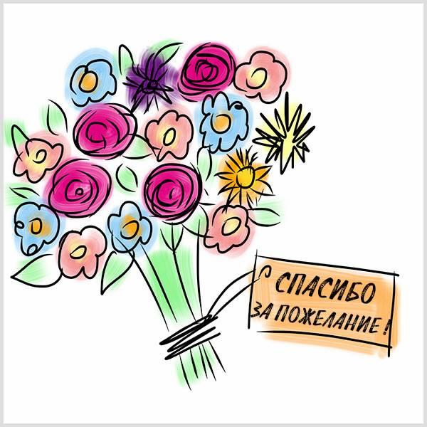 Картинка спасибо за пожелание - скачать бесплатно на otkrytkivsem.ru