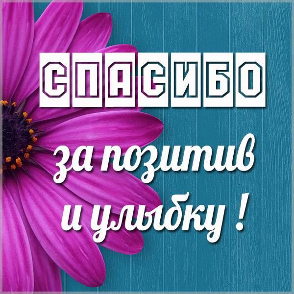 Картинка спасибо за позитив и улыбку - скачать бесплатно на otkrytkivsem.ru