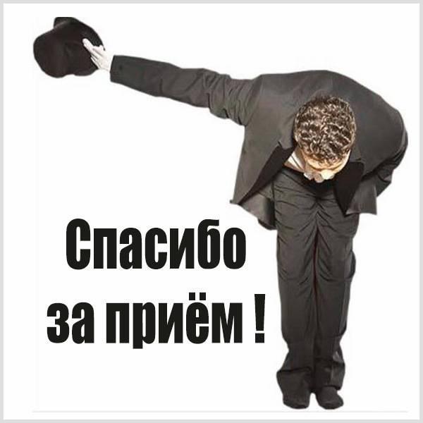 Картинка спасибо за прием - скачать бесплатно на otkrytkivsem.ru