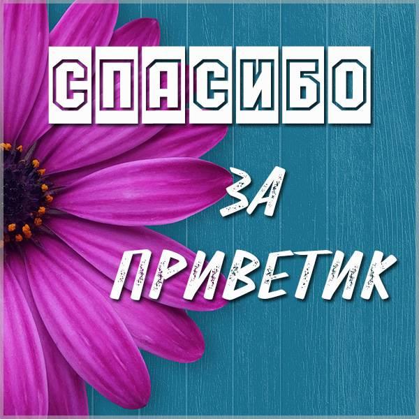 Картинка спасибо за приветик - скачать бесплатно на otkrytkivsem.ru