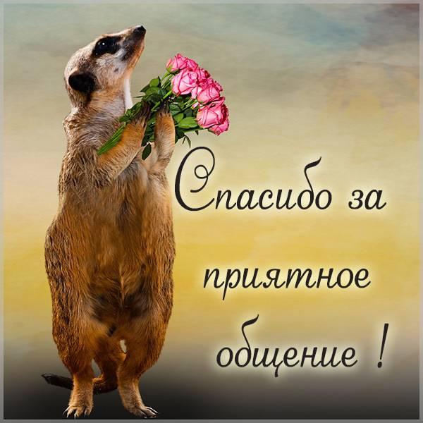 Картинка спасибо за приятное общение - скачать бесплатно на otkrytkivsem.ru
