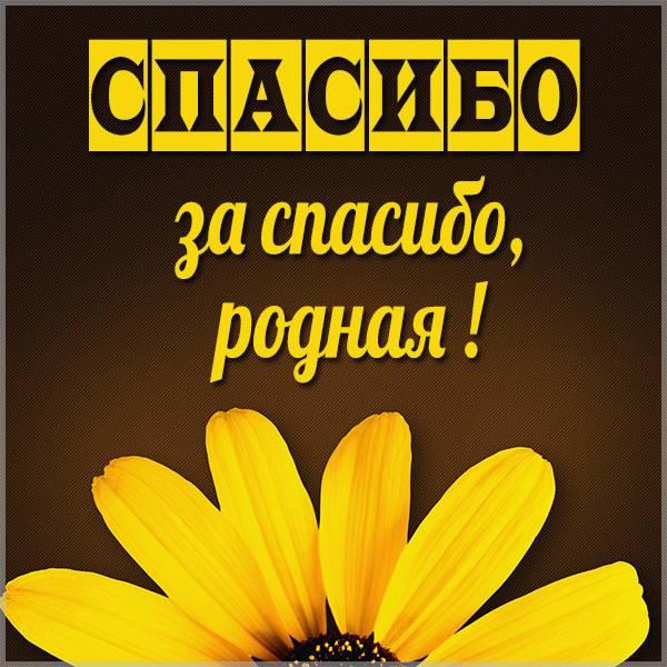 Картинка спасибо за спасибо родная - скачать бесплатно на otkrytkivsem.ru