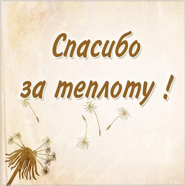 Картинка спасибо за теплоту - скачать бесплатно на otkrytkivsem.ru