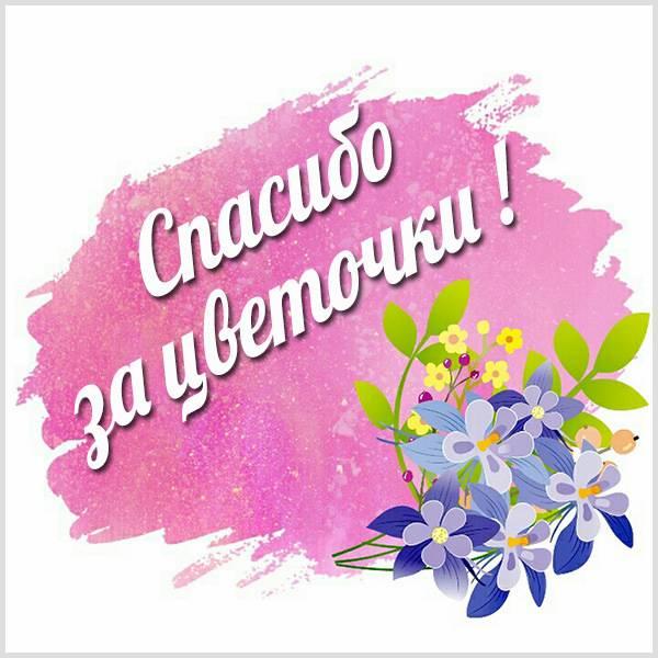 Картинка спасибо за цветочки - скачать бесплатно на otkrytkivsem.ru